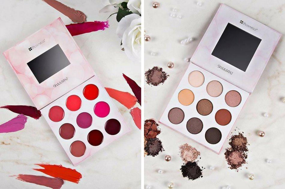 BH Cosmetics Shaaanxo – une palette pour les fards à paupières et les rouges à lèvres <3
